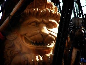 Lion figure head of the Götheborg